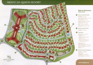 Masterplan of Monte da Quinta, Qunita do Lago; Layout of the luxury resort; Plano geral do condomínio Monte da Quinta, Algarve
