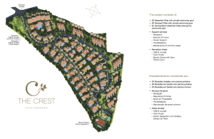 The Crest, luxury condominium, Algarve - MasterPlan