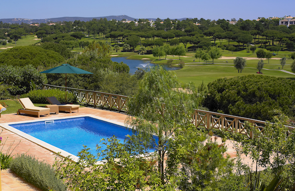 Monte da Quinta, Algarve - view over the swimiing pool and the golf course - Newpro Real Estate